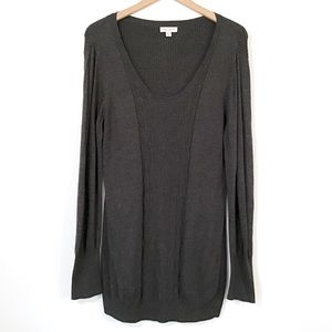 Liz Lange Maternity -Long Length Gray Soft Sweater